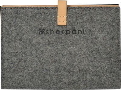 Sherpani Kingston Wool & Leather Passport Wallet Chai - Sherpani Travel Wallets
