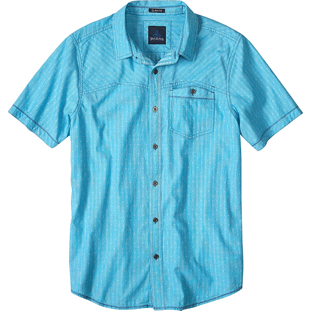 PrAna Patras Slim Fit Shirt M - Cove - PrAna Mens Apparel - Apparel & Footwear, Men's Apparel