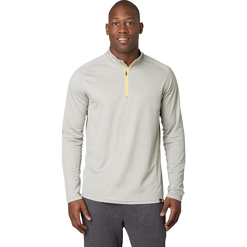 PrAna Orion 1/4 Zip M - Silver - PrAna Mens Apparel - Apparel & Footwear, Men's Apparel