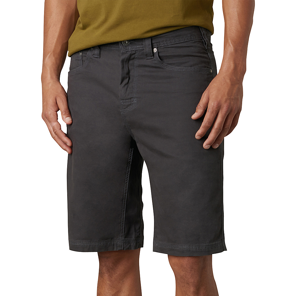 PrAna Bronson Shorts - 9 Inseam 35 - Charcoal - 31 - PrAna Mens Apparel - Apparel & Footwear, Men's Apparel