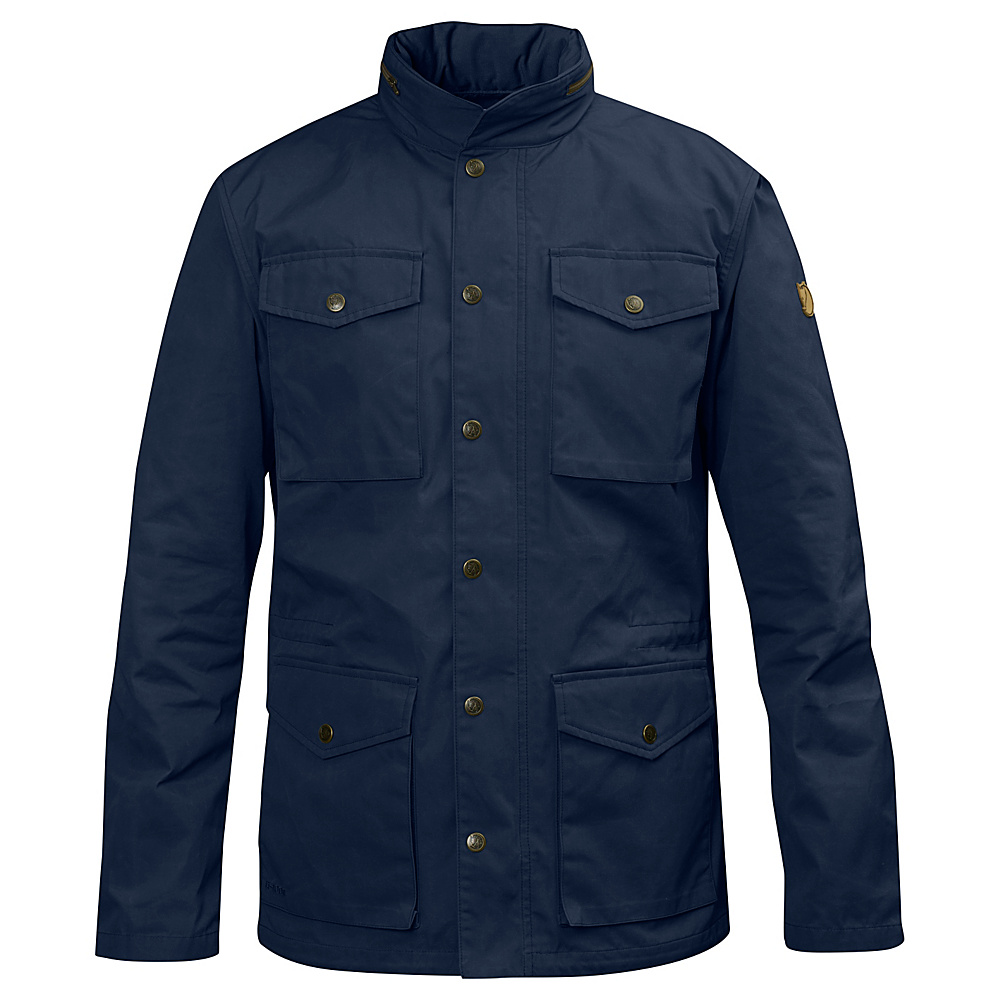 Fjallraven Raven Jacket S - Dark Navy - Large - Fjallraven Mens Apparel - Apparel & Footwear, Men's Apparel