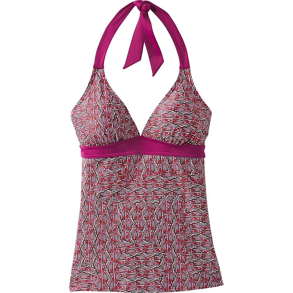 PrAna Lahari Tankini Top S - Pomegranate Seashells - PrAna Womens Apparel - Apparel & Footwear, Women's Apparel