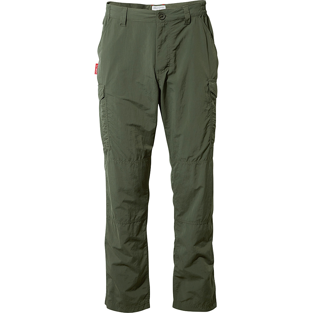 Craghoppers Nosilife Cargo Trousers - Short 40 - Short - Dark Khaki - Craghoppers Mens Apparel - Apparel & Footwear, Men's Apparel