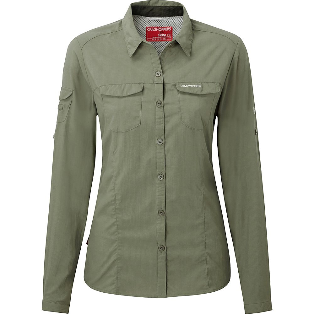 Craghoppers Nosilife Adventure Long Sleeve Shirt 4 - Soft Moss - Craghoppers Womens Apparel - Apparel & Footwear, Women's Apparel