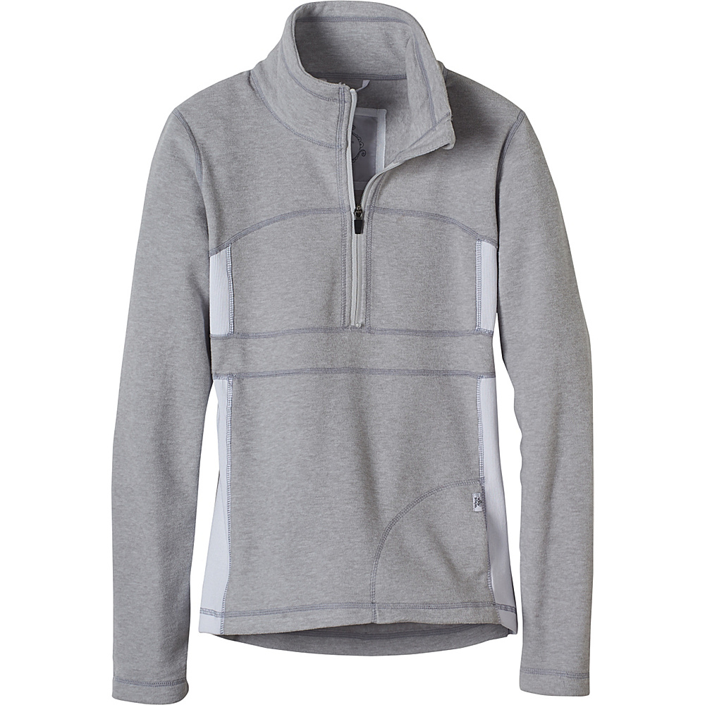 PrAna Drea Half Zip L - Silver - PrAna Womens Apparel - Apparel & Footwear, Women's Apparel