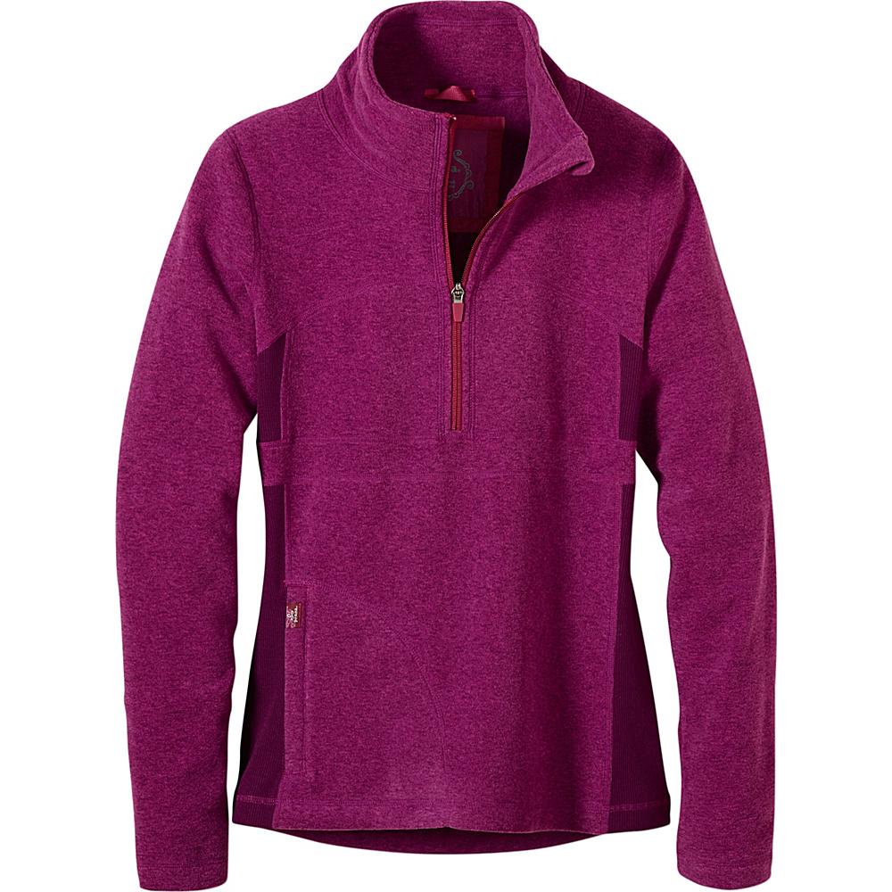 PrAna Drea Half Zip L - Grapevine - PrAna Womens Apparel - Apparel & Footwear, Women's Apparel