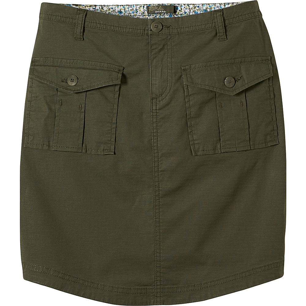 PrAna Katt Skirt M - Cargo Green - PrAna Womens Apparel - Apparel & Footwear, Women's Apparel