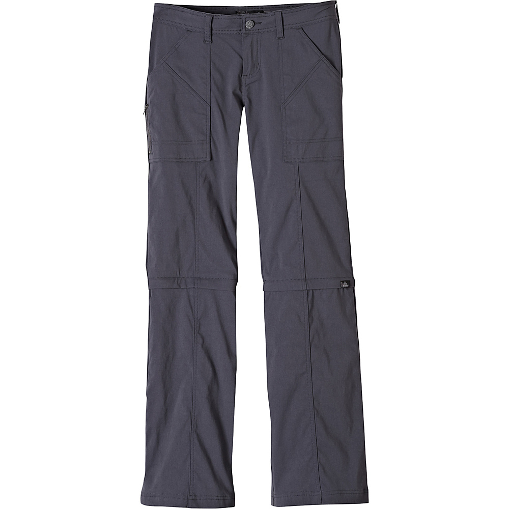 PrAna Monarch Convertible Pants - Tall Inseam 0 - Coal - PrAna Womens Apparel - Apparel & Footwear, Women's Apparel