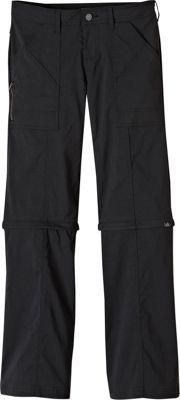PrAna Monarch Convertible Pants - Tall Inseam 0 - Black - PrAna Women's Apparel