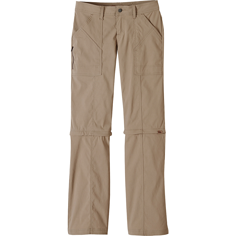 PrAna Monarch Convertible Pants - Tall Inseam 0 - Dark Khaki - PrAna Womens Apparel - Apparel & Footwear, Women's Apparel