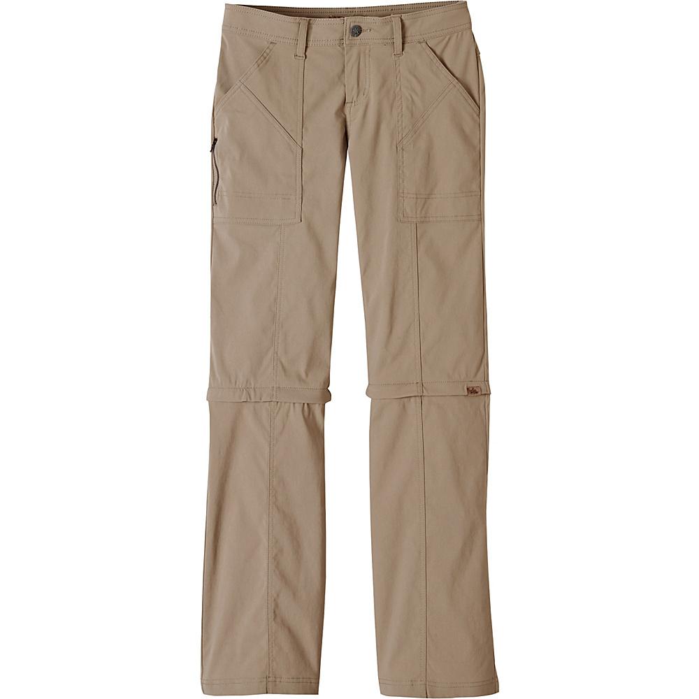 PrAna Monarch Convertible Pants - Tall Inseam 4 - Dark Khaki - PrAna Womens Apparel - Apparel & Footwear, Women's Apparel