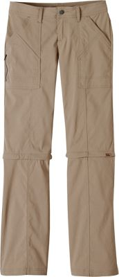 PrAna Monarch Convertible Pants - Tall Inseam 6 - Dark Khaki - PrAna Women's Apparel