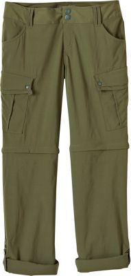 PrAna Sage Convertible Pants - Short Inseam 6 - Cargo Green - PrAna Women's Apparel 10444356