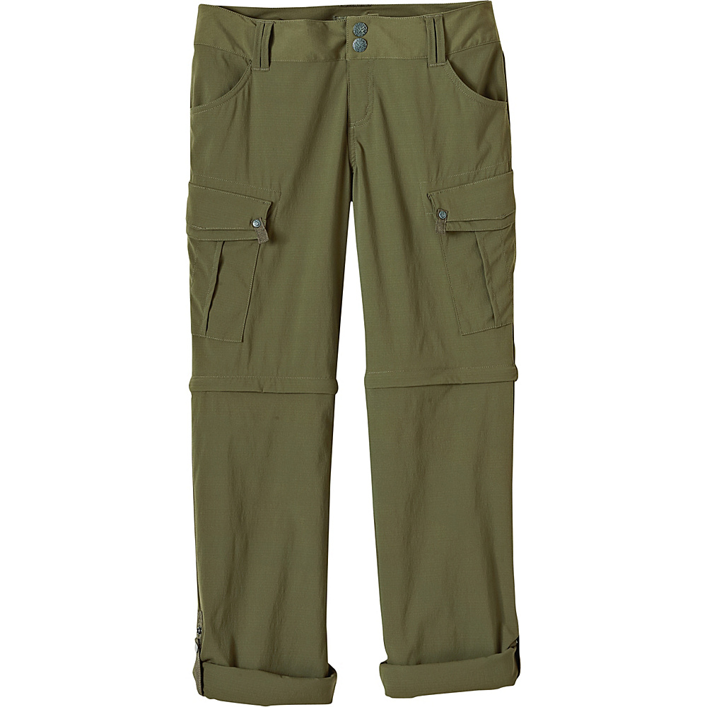PrAna Sage Convertible Pants - Short Inseam 6 - Cargo Green - PrAna Womens Apparel - Apparel & Footwear, Women's Apparel