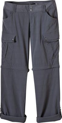 PrAna Sage Convertible Pants - Short Inseam 6 - Coal - PrAna Women's Apparel