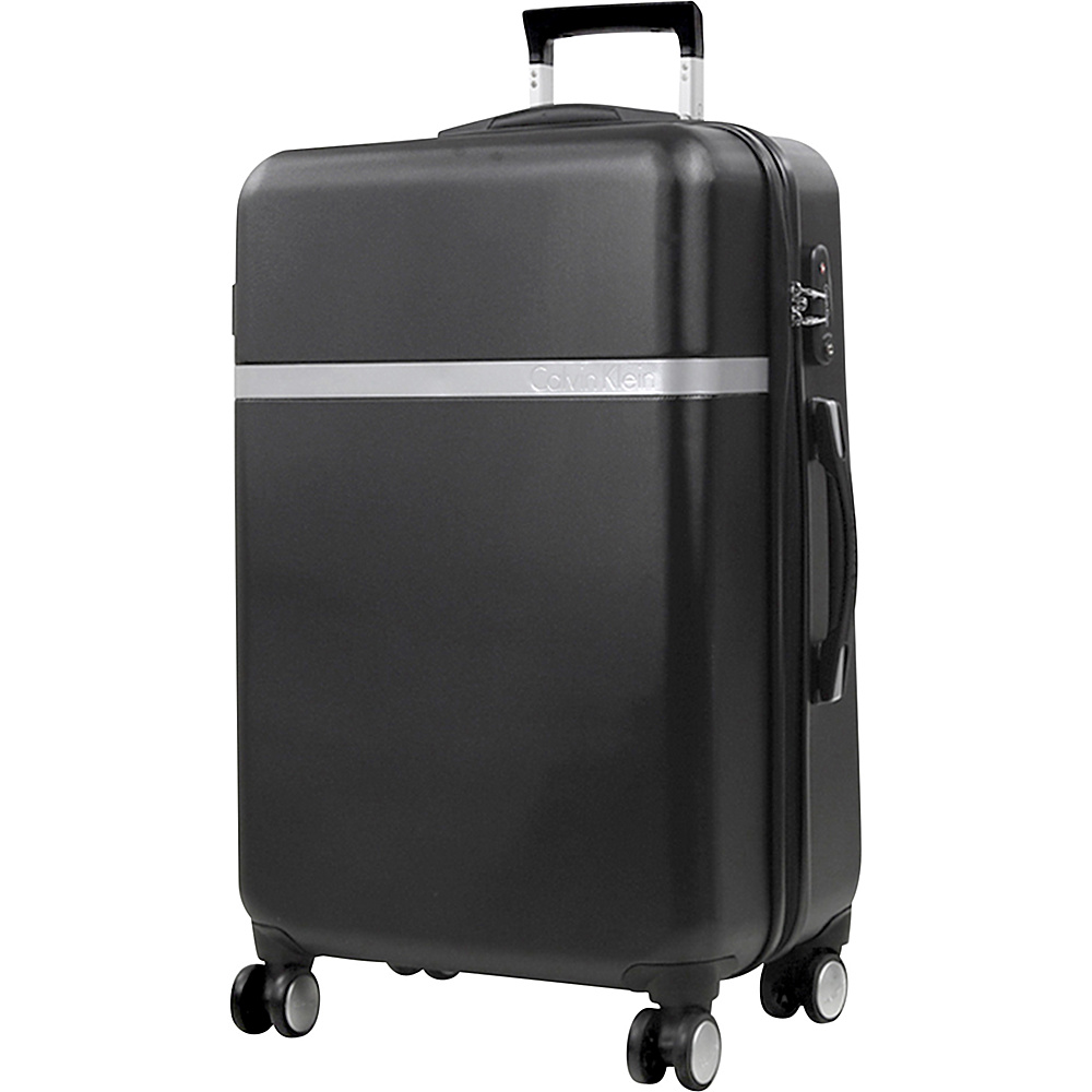 Calvin Klein Luggage Libertad 2.0 24 Upright Hardside Spinner Black Calvin Klein Luggage Hardside Checked
