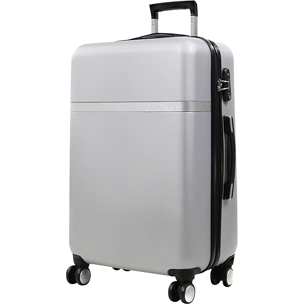 Calvin Klein Luggage Libertad 2.0 24 Upright Hardside Spinner Silver Calvin Klein Luggage Hardside Checked