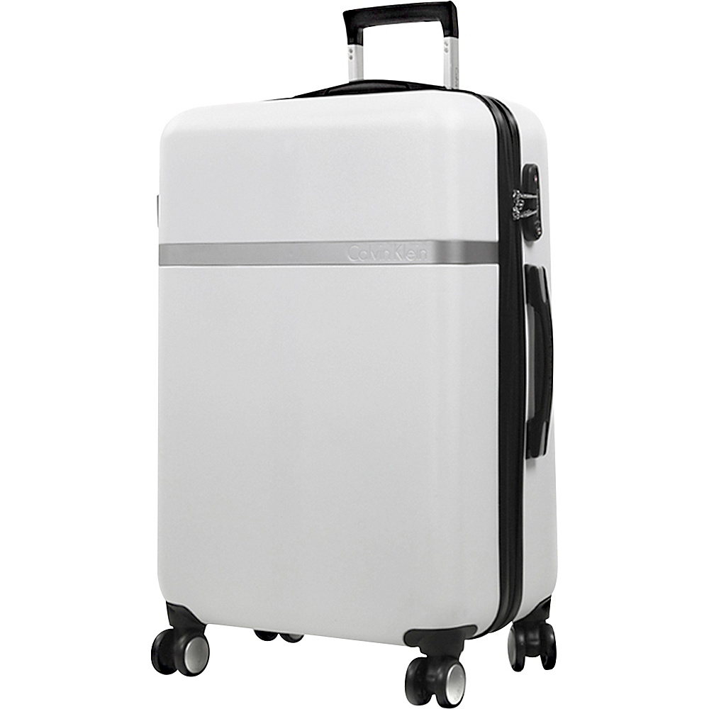 Calvin Klein Luggage Libertad 2.0 24 Upright Hardside Spinner White Calvin Klein Luggage Hardside Checked