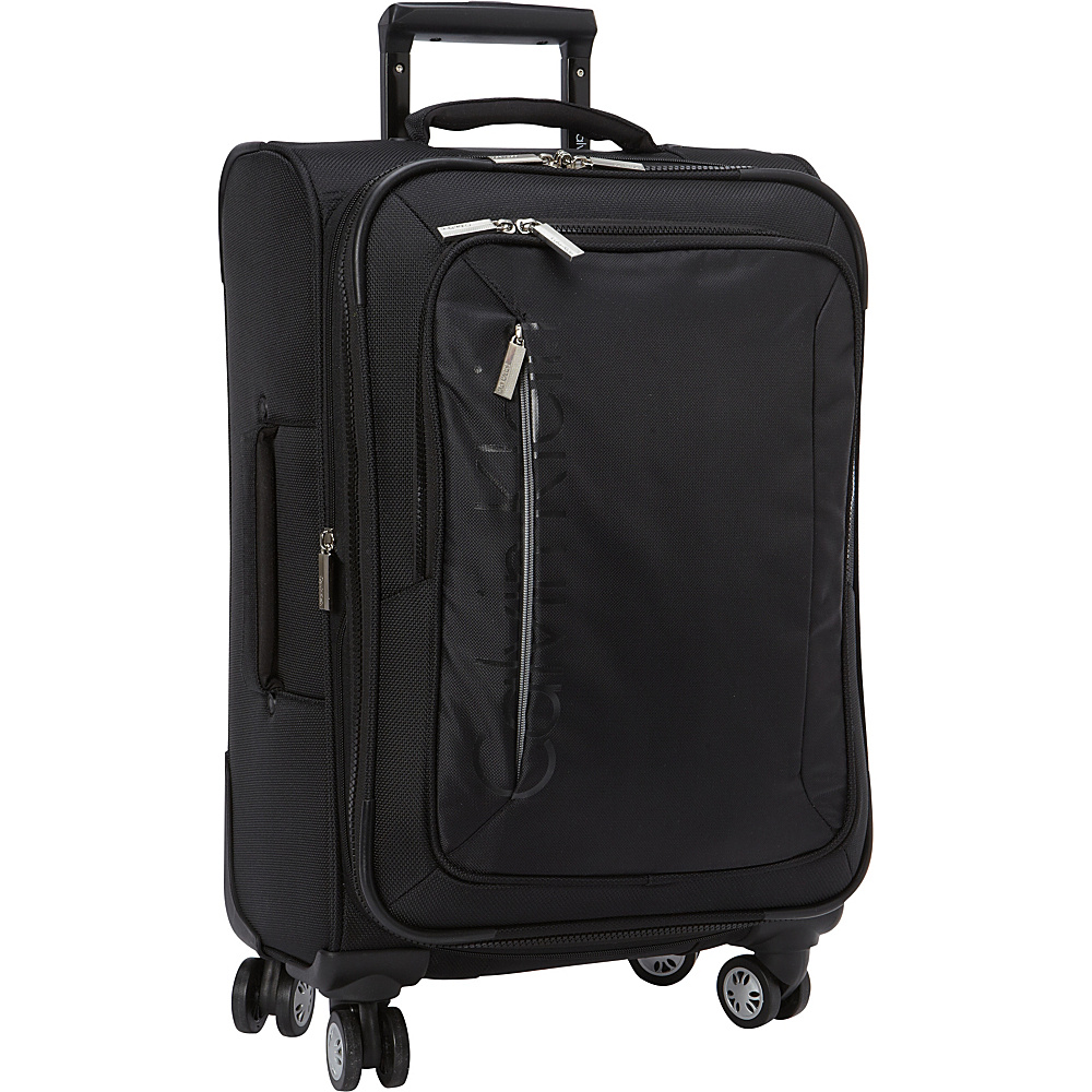 Calvin Klein Luggage Tremont 21 Carry-On Softside Spinner Black - Calvin Klein Luggage Softside Carry-On