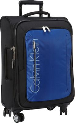 Calvin Klein Luggage Tremont 21 Carry-On Softside Spinner Blue - Calvin Klein Luggage Small Rolling Luggage