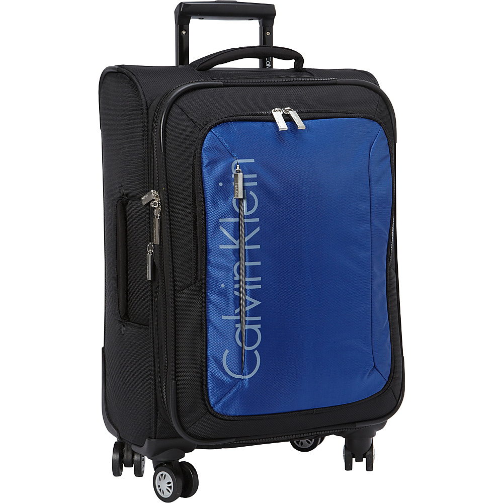 Calvin Klein Luggage Tremont 21 Carry On Softside Spinner Blue Calvin Klein Luggage Softside Carry On