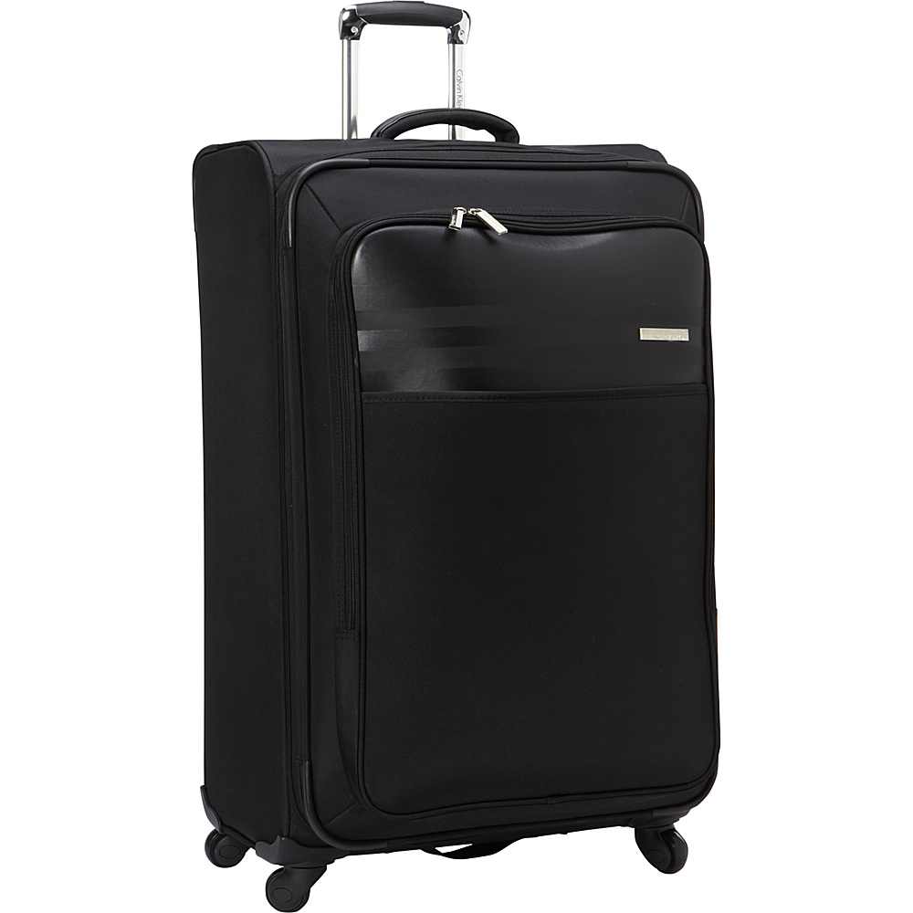 Calvin Klein Luggage Greenwich 2.0 29 Upright Softside Spinner Black Calvin Klein Luggage Softside Checked