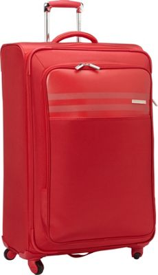 Calvin Klein Luggage Greenwich 2.0 29 Upright Softside Spinner Red - Calvin Klein Luggage Softside Checked