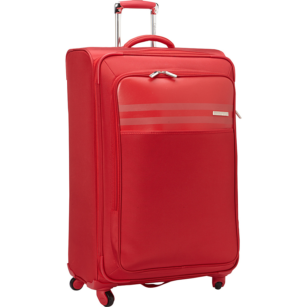 Calvin Klein Luggage Greenwich 2.0 29 Upright Softside Spinner Red Calvin Klein Luggage Softside Checked