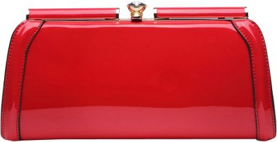 MKF Collection by Mia K. Farrow Heaven Clutch Bag Red - MKF Collection by Mia K. Farrow Manmade Handbags
