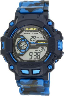 Armitron Sport Mens Digital Chronograph Grey Resin Strap ...
