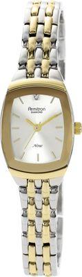 Armitron Womens Diamond Accented Dial Two-Tone Bracelet Watch Two-Toned - Armitron Watches