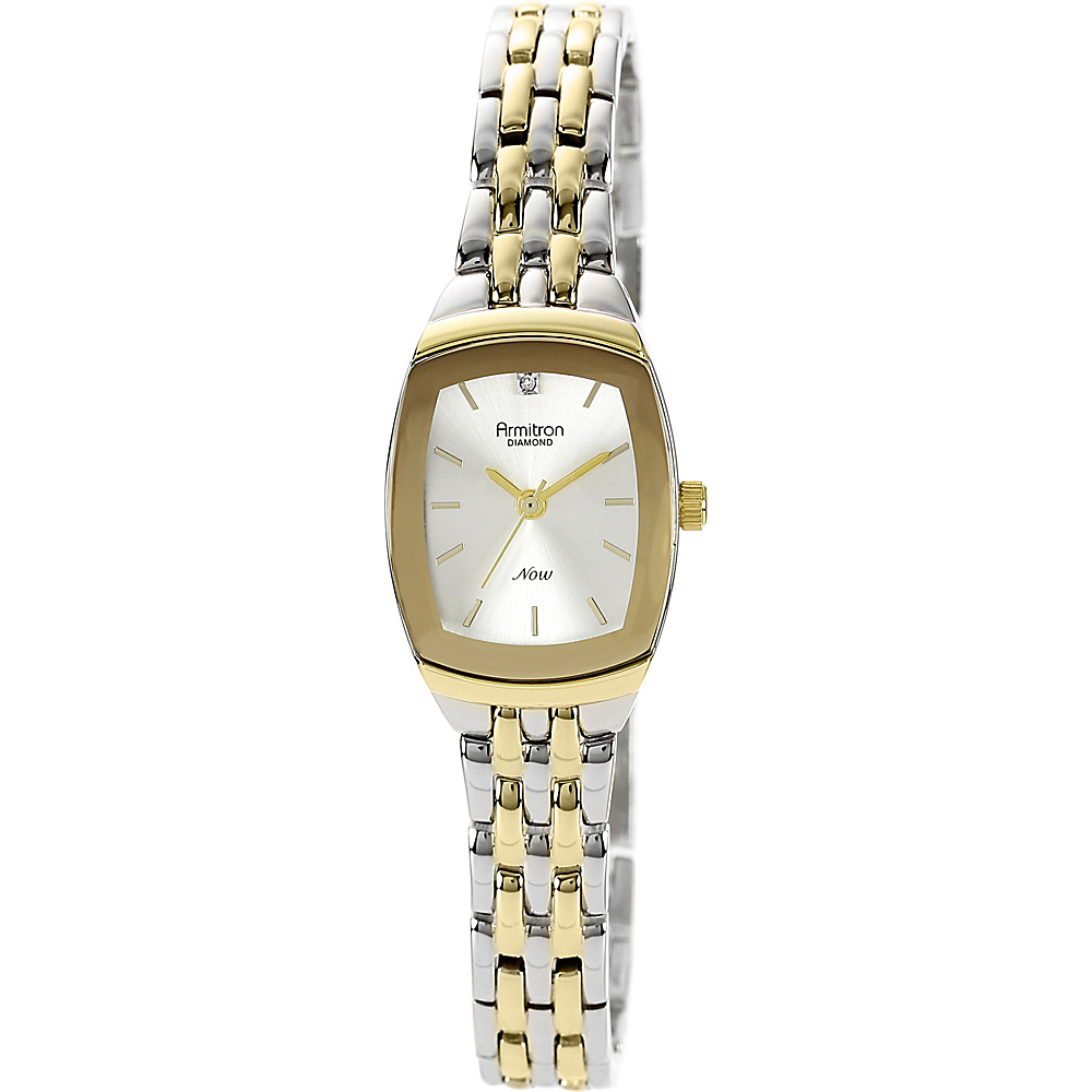 Armitron Womens Diamond Accented Dial Two Tone Bracelet Watch Two Toned Armitron Watches