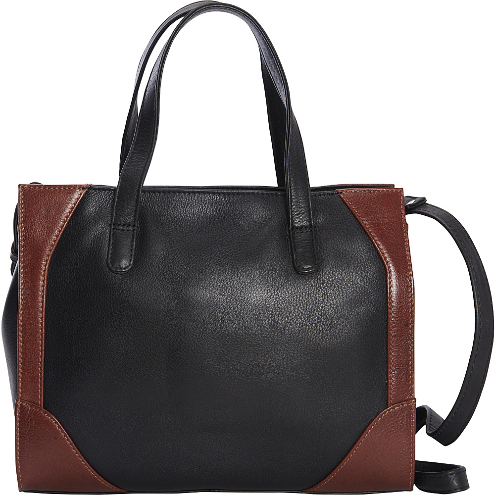 Derek Alexander Small Satchel Black/Whisky - Derek Alexander Leather Handbags - Handbags, Leather Handbags