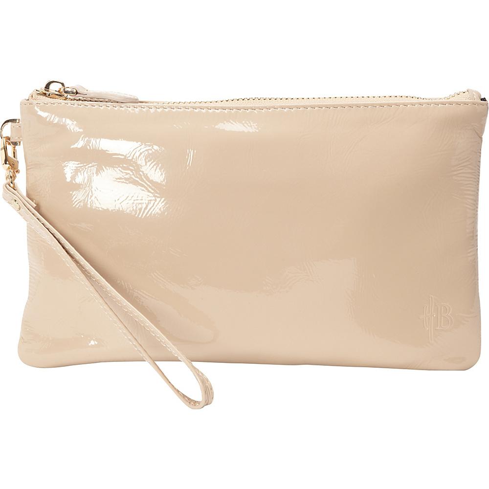 HButler The Mighty Purse Wristlet Patent Leather Café Au Lait HButler Leather Handbags
