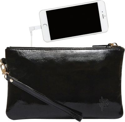 HButler The Mighty Purse Wristlet- Patent Leather Glossy Black - HButler Leather Handbags