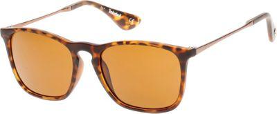 Timberland Eyewear Full Rim Matte Sunglasses Tortoise - Timberland Eyewear Sunglasses