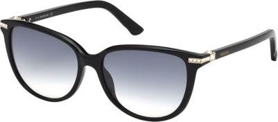 Swarovski Eyewear Edith Sunglasses Shiny Black - Swarovski Eyewear Sunglasses