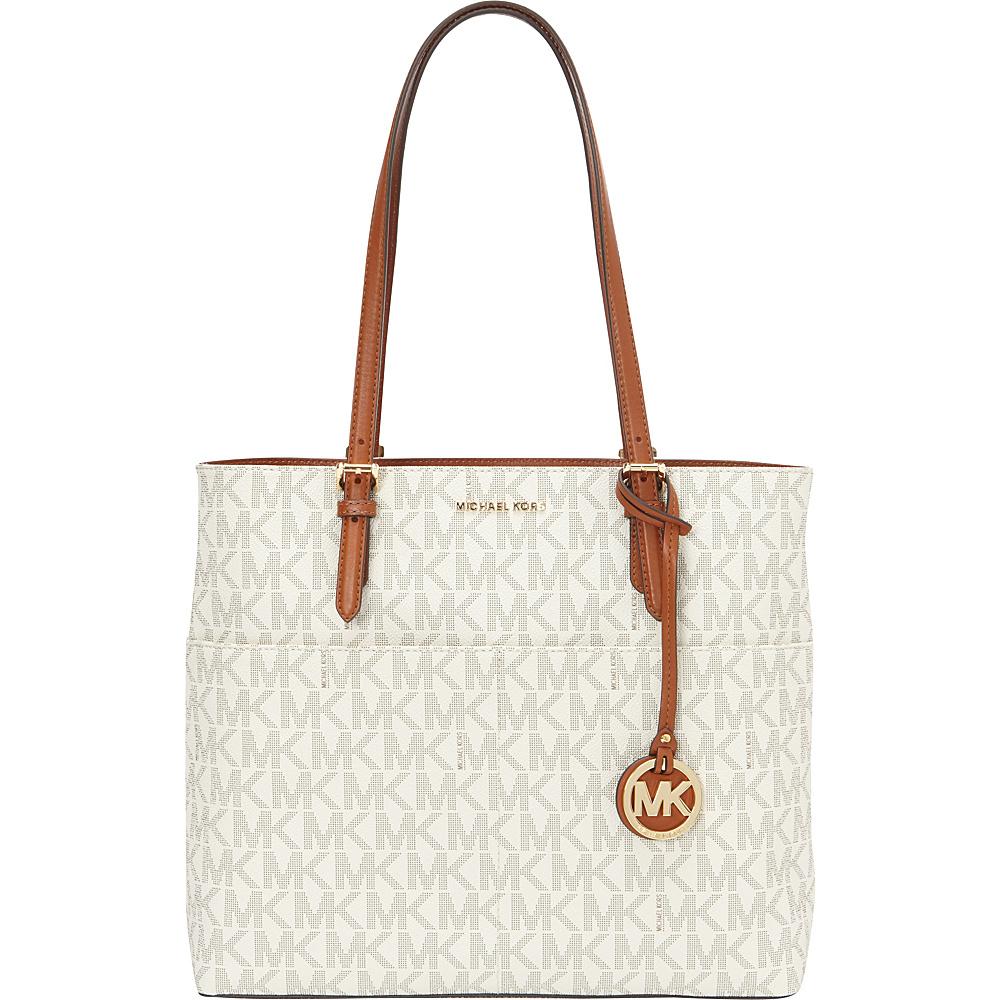 MICHAEL Michael Kors Belford Large Pocket Tote Vanilla - MICHAEL Michael Kors Designer Handbags