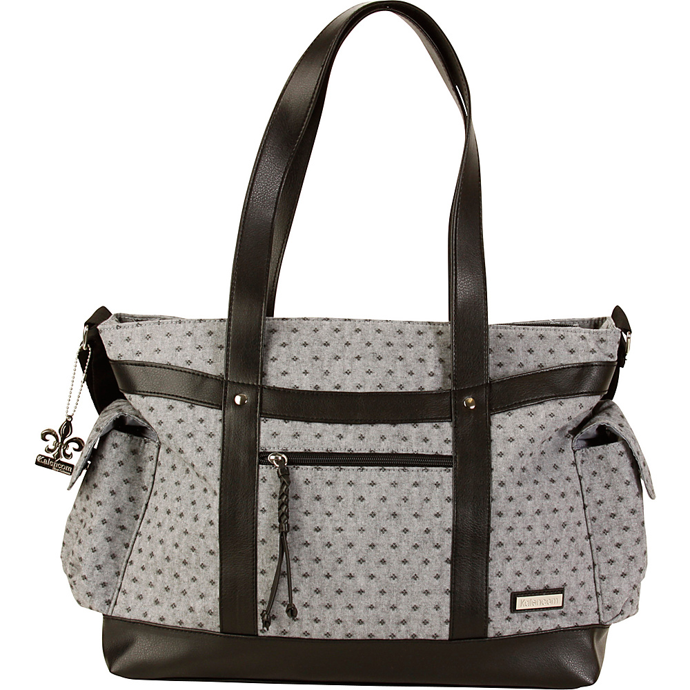 Kalencom L.A. Diaper Tote Bag Medallion Gray - Kalencom Diaper Bags & Accessories