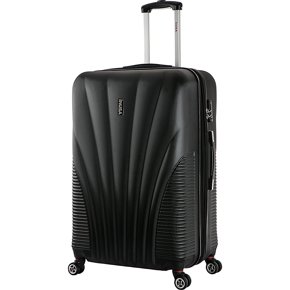 inUSA Chicago Collection 29 Lightweight Hardside Spinner Suitcase Black inUSA Hardside Checked