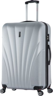 inUSA Chicago Collection 29 inch Lightweight Hardside Spinner Suitcase Silver - inUSA Hardside Checked