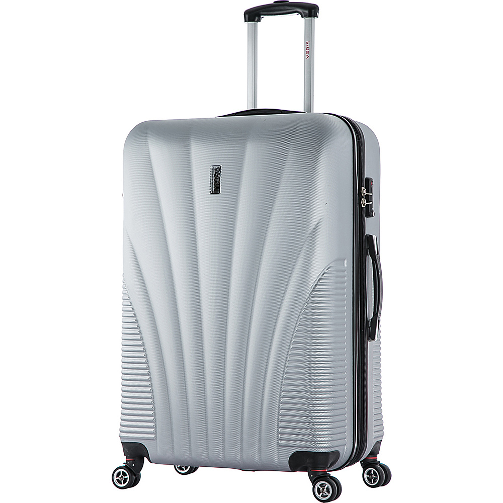 inUSA Chicago Collection 29 Lightweight Hardside Spinner Suitcase Silver inUSA Hardside Checked