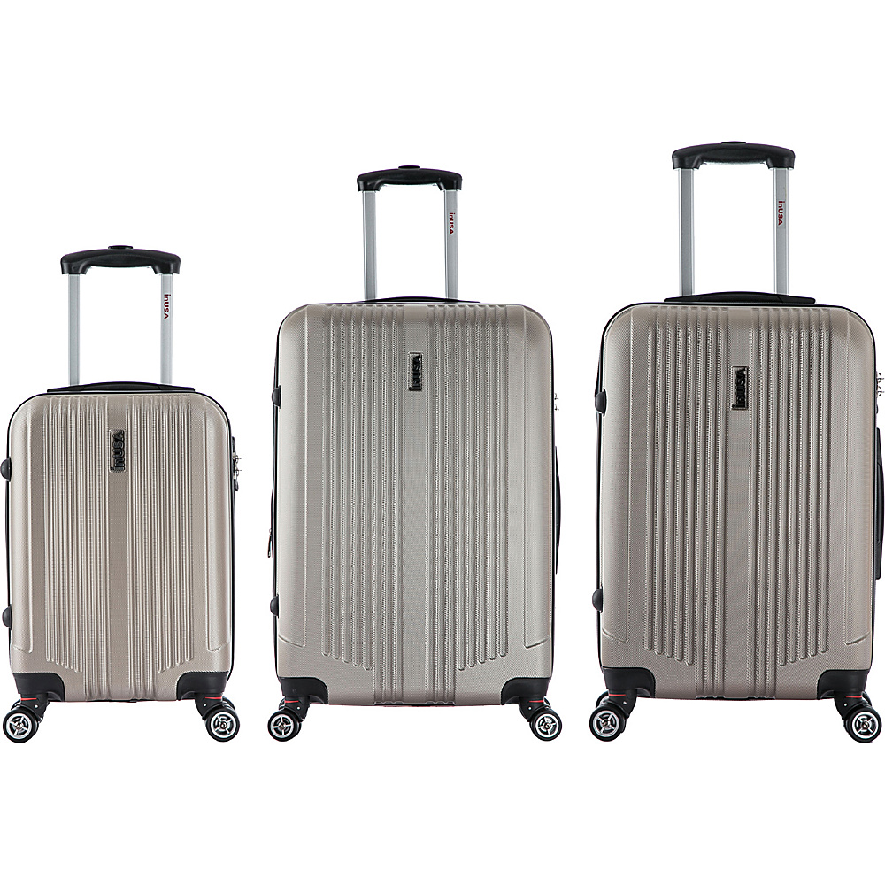 inUSA San Francisco 3 Piece Lightweight Hardside Spinner Luggage Set Champagne inUSA Luggage Sets