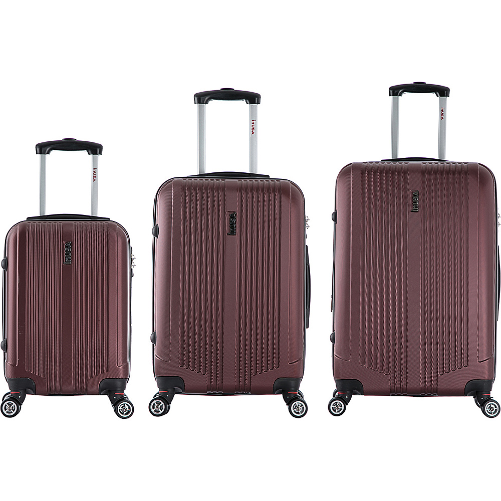 inUSA San Francisco 3 Piece Lightweight Hardside Spinner Luggage Set Wine inUSA Luggage Sets