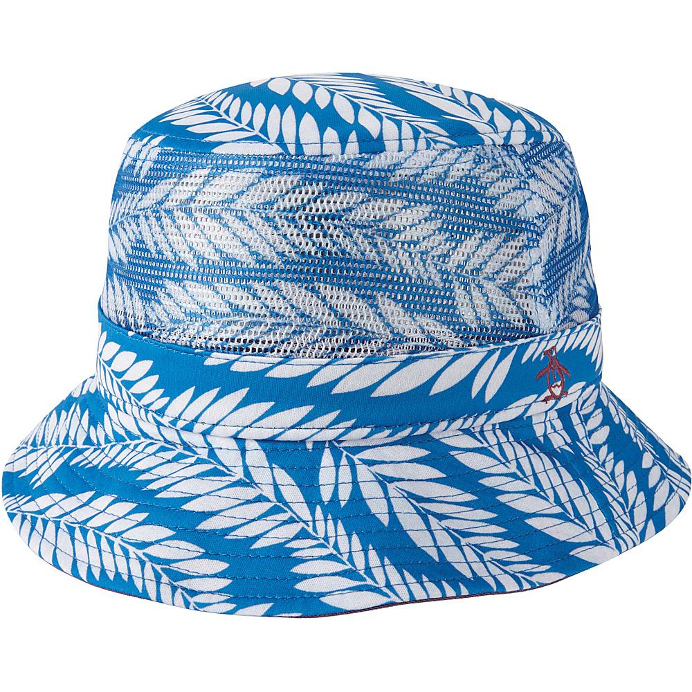Original Penguin Palm Print Bucket Hat S/M - Directoire Blue - Original Penguin Hats/Gloves/Scarves