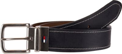 Tommy Hilfiger Accessories 38MM Reversible Belt with Flag Logo on Buckle Shank Black/Brown - 38 - Tommy Hilfiger Accessories Other Fashion Accessories