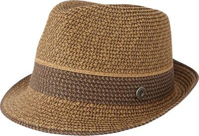 Ben Sherman Multi-Stripe Straw Trilby Hat S/M - Brown - Ben Sherman Hats/Gloves/Scarves