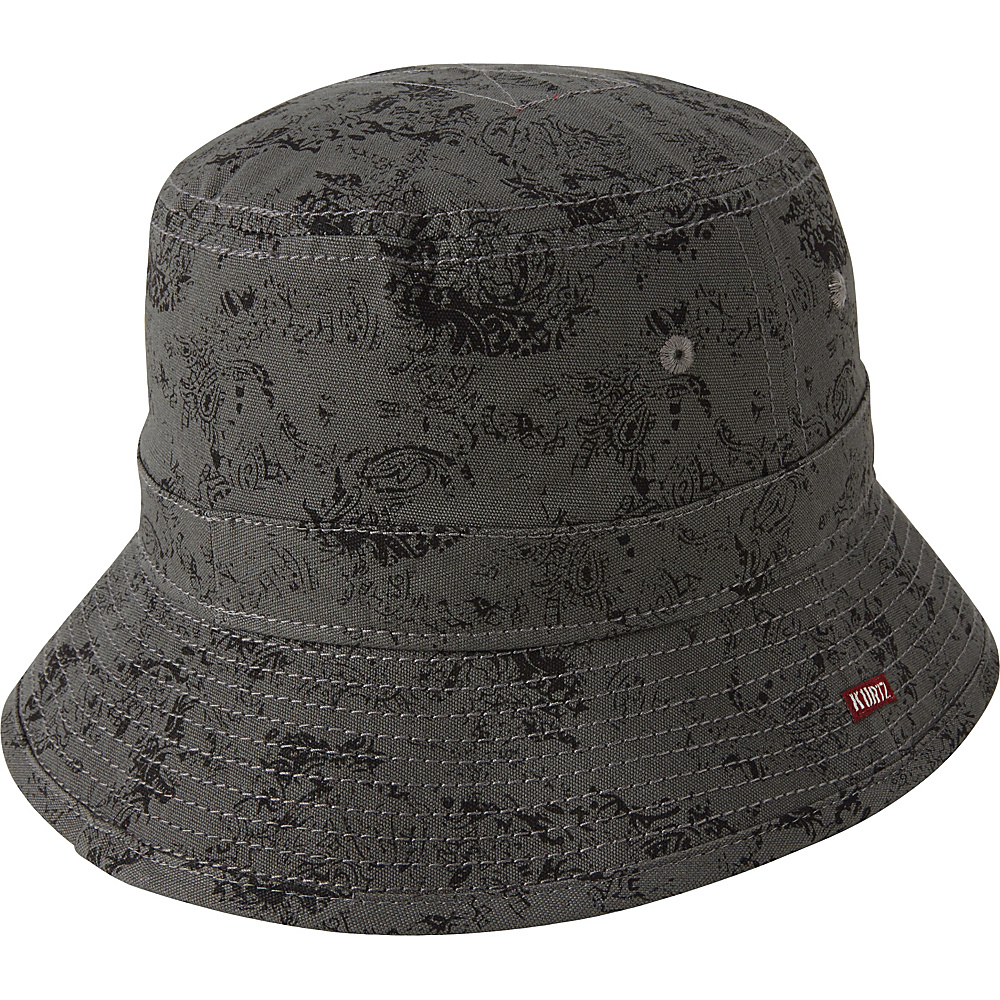 A Kurtz Pax Camo Bucket Hat Charcoal M A Kurtz Hats Gloves Scarves