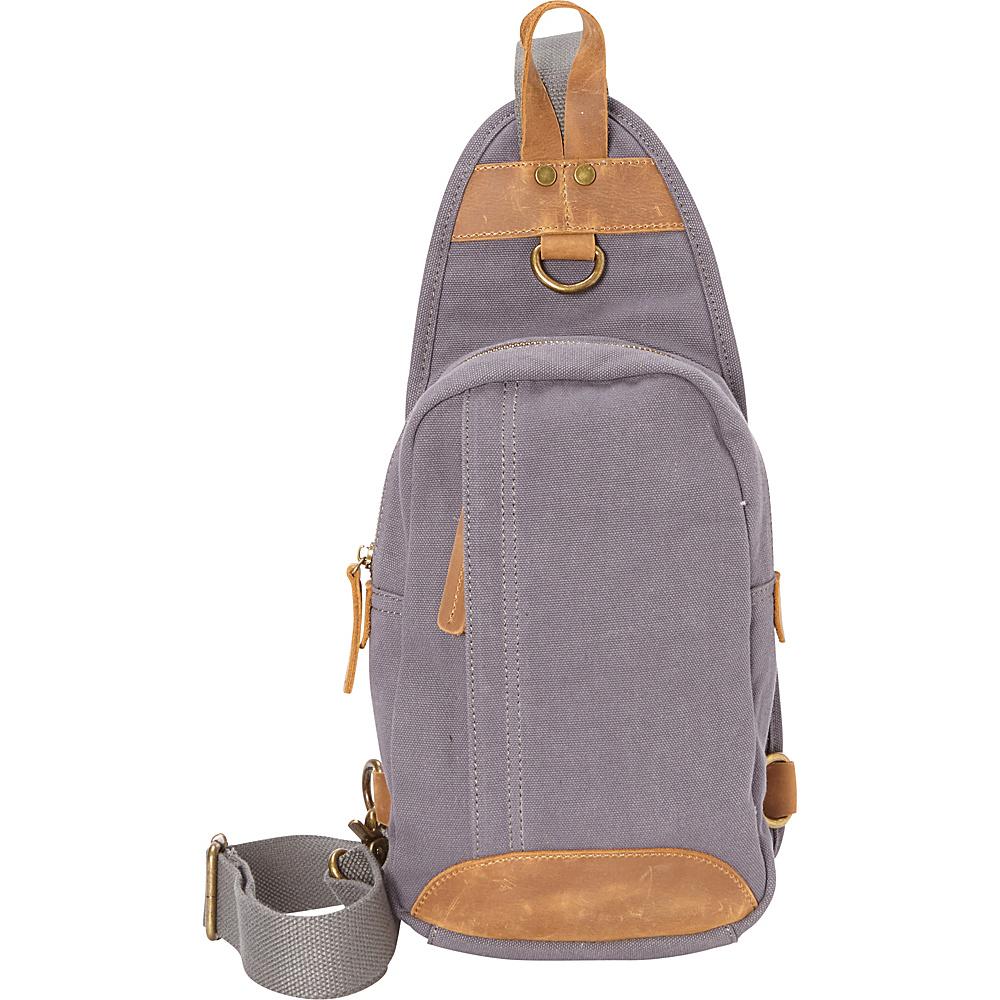 Vagabond Traveler Cotton Canvas Chest Pack Travel Bag Blue Grey - Vagabond Traveler Slings - Backpacks, Slings