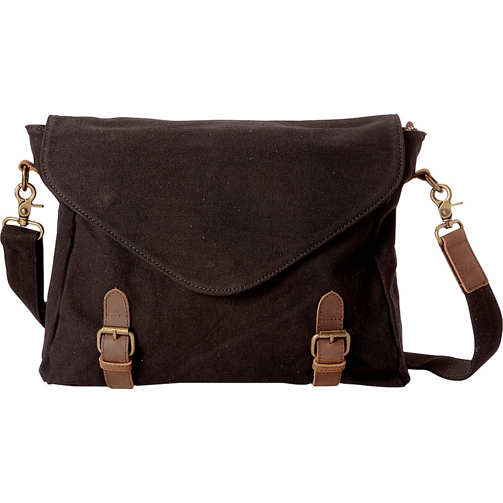 Vagabond Traveler Casual Style Canvas Messenger Bag Black - Vagabond Traveler Messenger Bags - Work Bags & Briefcases, Messenger Bags